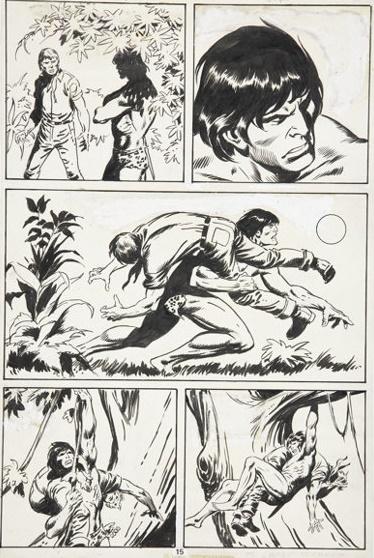 Épure et mouvement. © Marvel Comics