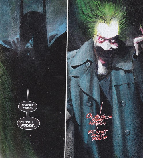 Jamais à une connerie près, Grant Morrison a déclaré ne pas aimer les dessins de McKean... ©DC Comics