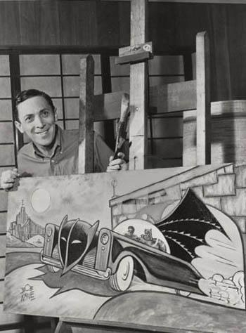 La mesquinerie de Bob Kane l'aura finalement épargné de la disette que connurent les créateurs de Superman. Photo libre de droit. Source Wikipedia https://fr.wikipedia.org/wiki/Bob_Kane#/media/Fichier:Bob_Kane_1966_photo.jpg
