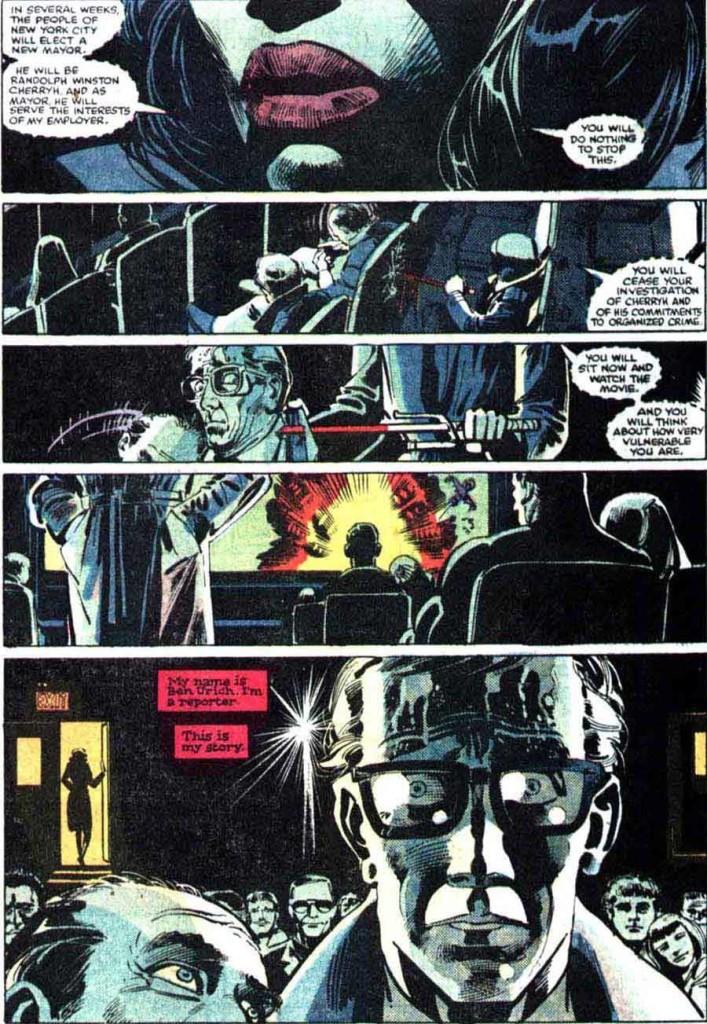 Où Miller sublime sa terreur du cinéma ! ©Marvel Comics