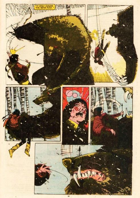 Faute de l'expérience d'un Wolverine, Dani Moonstar n'est pas de taille face à un Grizzli ! ©Marvel comics