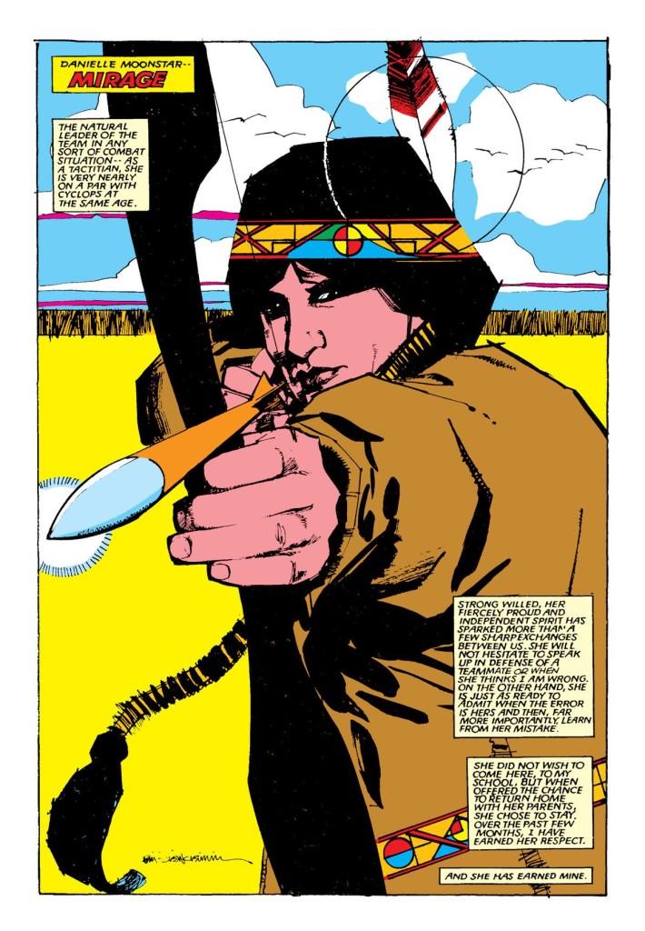 La vedette de la série, sauvage, belle et rebelle à l'autorité de Xavier : Dani Moonstar. ©Marvel comics