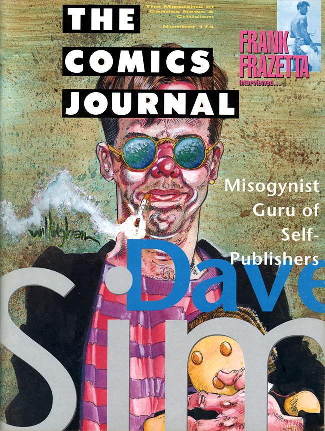 Couverture du COMICS JOURNAL #174 par Bill Willingham  Copyright Fantagraphics Books Inc