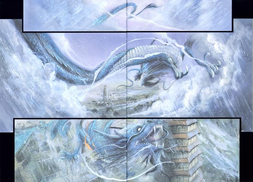 Un dragon mécontent © Delcourt