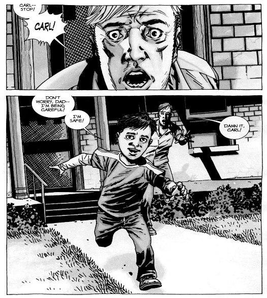 Un risque inédit pour Carl ©Image Comics