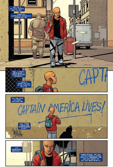 Un épisode pour les fans de Brubaker sur Captain America… © Marvel Comics