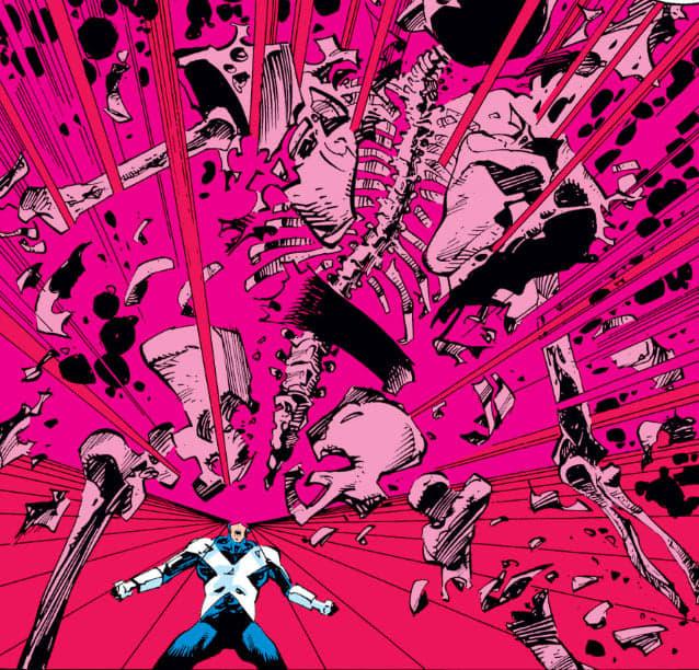Arrêtez de me traiter de connaaaaaaaard !  Scott lave son honneur en explosant Sinistre !  ©Marvel Comics