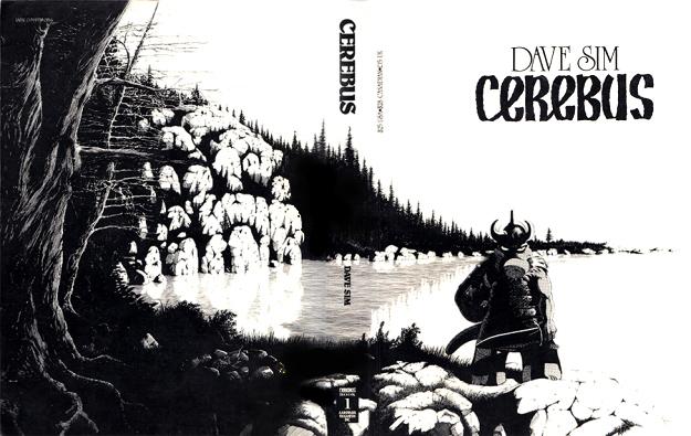 Couverture et quatrième de couverture de CEREBUS THE AARDVARK © Dave Sim