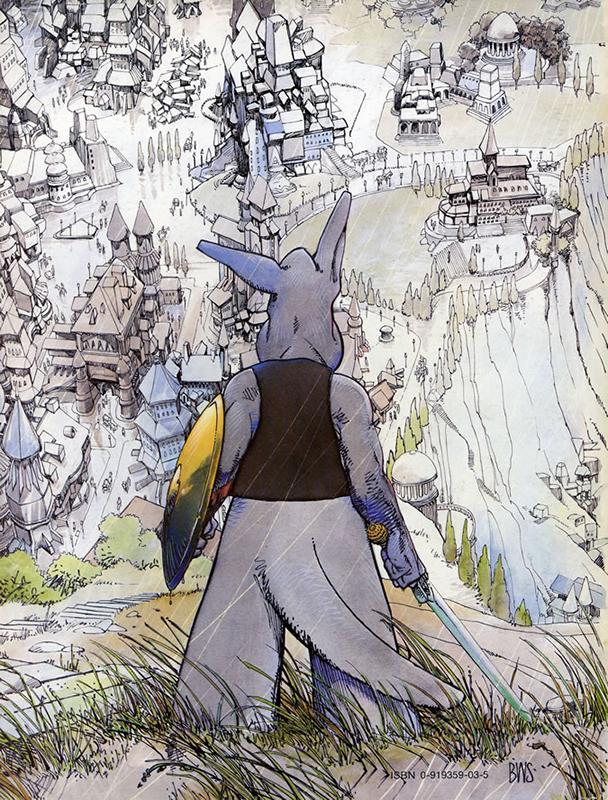 Quatrième de couverture de SWORDS OF CEREBUS #5 par Barry WIndsor Smith