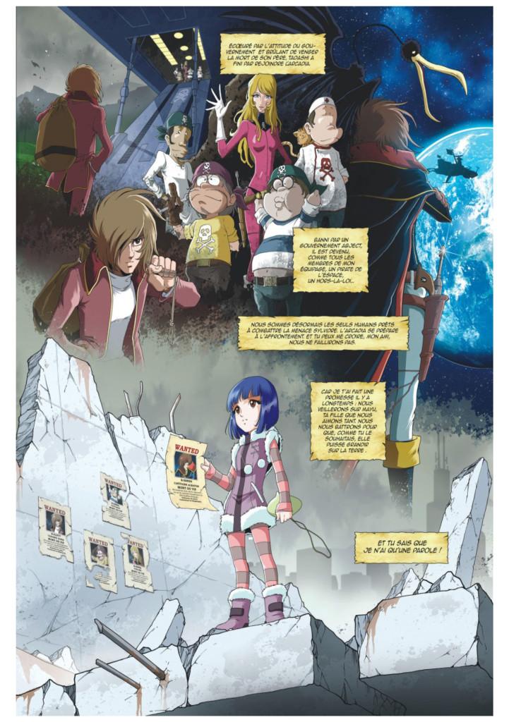 Le changement dans la continuité  ©Kana / Jerome Alcquié ©Leiji Matsumoto / Akita Shonen ©Toei Animation