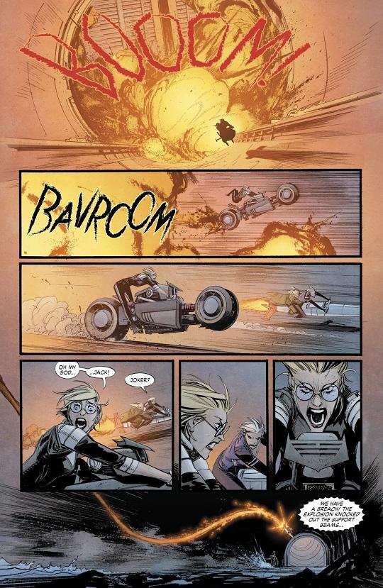 Des pages d'action très dynamiques © DC Comics
