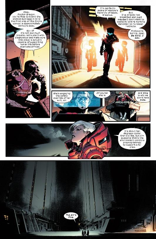 La mystérieuse station d'Orchis  © Marvel Comics