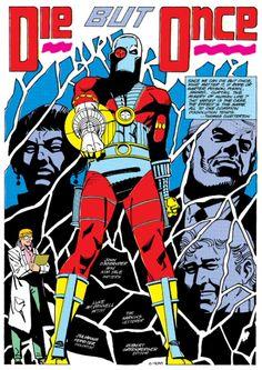 Le concept de la série en une seule image: un Mercenaire, sa psy et les autres personnages dans un décor fragmenté. ©1988-Luke Mc Donnell-DC comics