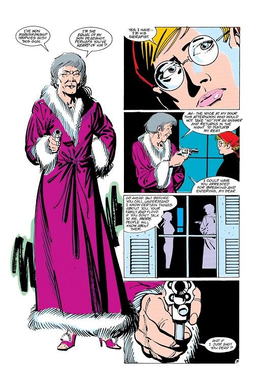 C'est moi qui lui ai appris à tirer des coups... au revolver bien sûr, je ne suis pas une perverse.... ©1988-DC Comics-Luke Mc Donnell