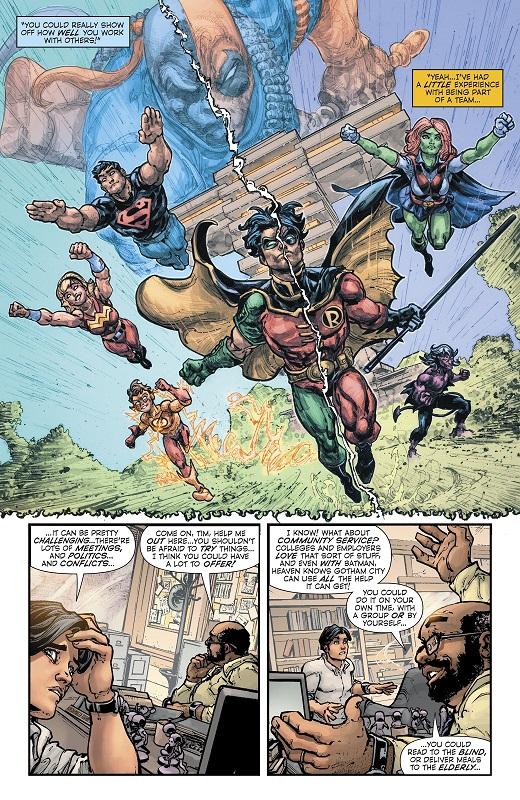 Jason Todd, roi de la gâchette dans une mise en page signée Javier Fernandes….  © DC Comics
