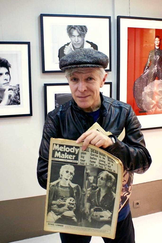 Une vie pour Bowie : Jerôme Soligny à l'exposition DAVID BOWIE IS pour laquelle il a servi de consultant. thumbnail_ ©Archives Jérôme Soligny Avec l'aimable autorisation de Jérôme Soligny