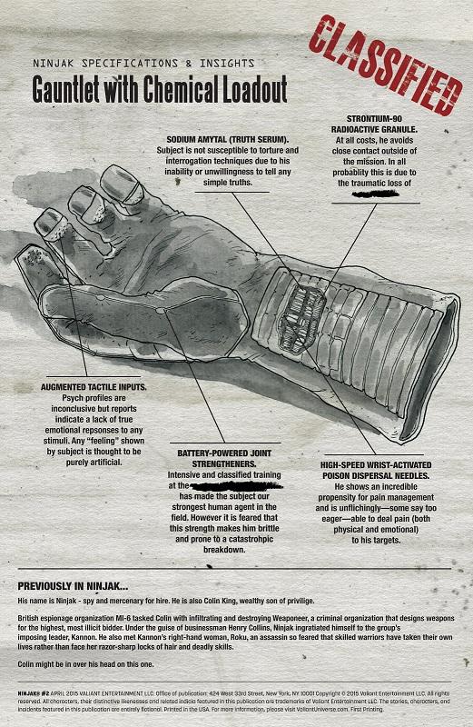 Analyse des forces et faiblesses par le MI-6 ©Valiant Comics