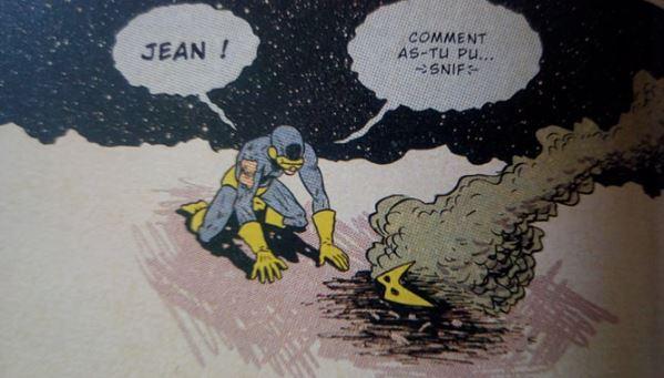 Snif- Scott est : -En manque de Cocaïne ? -Allergique à la poussière de sa copine ?   @ Marvel Comics