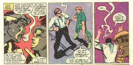Matt plaide sa cause auprès de Nick Fury ©Marvel Comics
