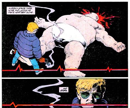 Le Caïd est mort mais c'est Murdock qui prend un air abattu… ©Marvel Comics