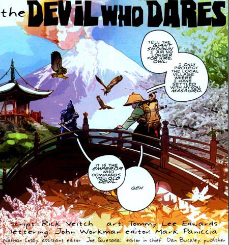 Et si… Battling Jack Murdock avait été un vieux samouraï ? ©Marvel Comics